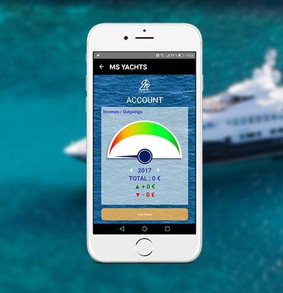 La gestion de bateau sur l'application mobile MS Yachts