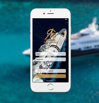 Connexion sur l'application MS Yachts