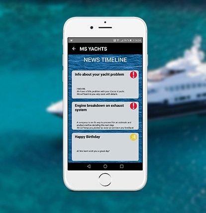 Botifications de l'appliation Ms Yachts
