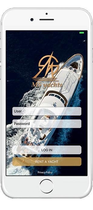 L'application mobile pour notre client MS Yachts