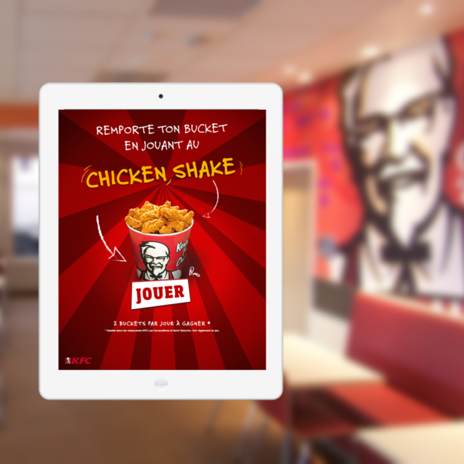 Mockup de l'application KFC